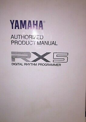 YAMAHA RX5 Digital Rhythm Programmer drum machine MANUAL
