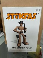 """Stikfas Mâle Alpha Cowboy Sheriff 3/"""" Figure Old West AFK22L Comme neuf in box NEW Comme neuf IN BOX"""
