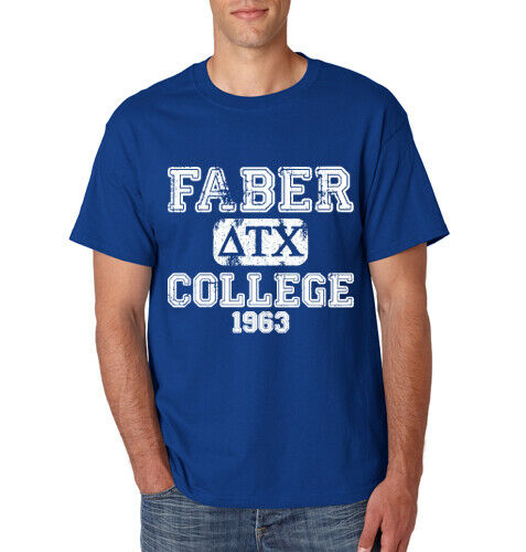 FABER COLLEGE T-Shirt Animal House Fraternity Frat Alpha Beta Party S-6XL Tee