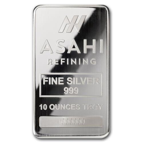 - SKU #90498 10 oz Silver Bar Serialized Asahi