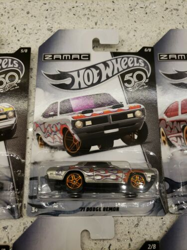 Hot Wheels 50 challenging limits ZAMAC complete 8 Cars Set Mustang Duster Demon