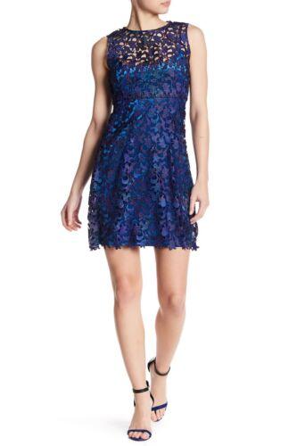 New T Tahari Wortha Lace and Velvet Dress Sz 2