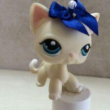 Littlest Pet Shop Shorthair IVORY CAT #410 Cream White RARE 9 pics SHIPS FREE