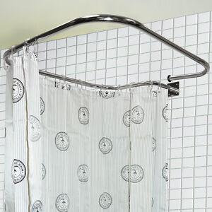 Barra Per Tenda Doccia.Acciaio Inox Rettangolare Quadrato Binario Doccia E Anelli Per Tende
