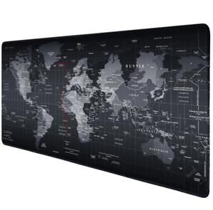 Weltkarte-Gaming-Maus-Pad-Extended-Tischunterlage-Anti-Rutsch-Matte-800x300x2cm