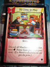 HARRY POTTER TRADING GAME TCG QUIDDITCH CUP NO TIME TO PLAY 17/80 RARE EN MINT
