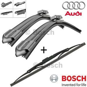 kit SPAZZOLE TERGICRISTALLI BOSCH ANTERIORI + POSTERIORI Audi A3