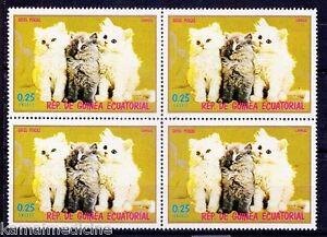 Cat Breeds, Persian Cat, Domestic Animals, Guinea Ecuatorial MNH Blk 4  (P29)