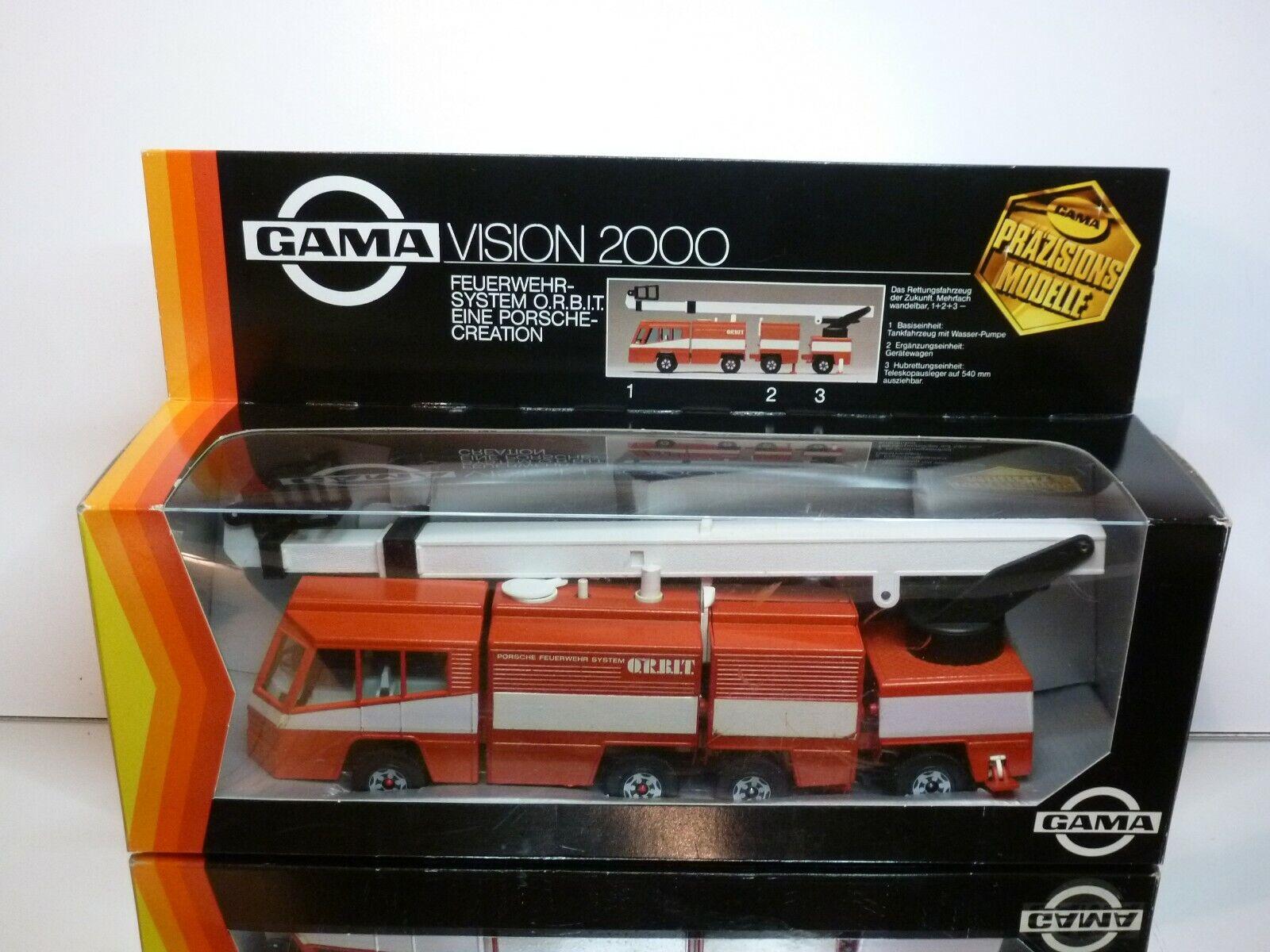 tutti i beni sono speciali GAMA 3536 PORSCHE FEUERWEHR SYSTEM O.R.B.I.T. O.R.B.I.T. O.R.B.I.T. - rosso - VERY GOOD IN scatola  bellissima