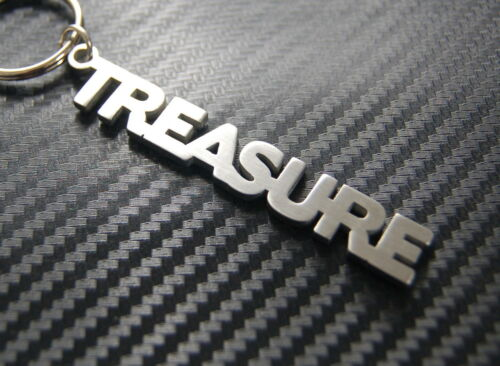 TREASURE Jewel Nickname Keyring Keychain Key Fob Bespoke Stainless Steel Gift