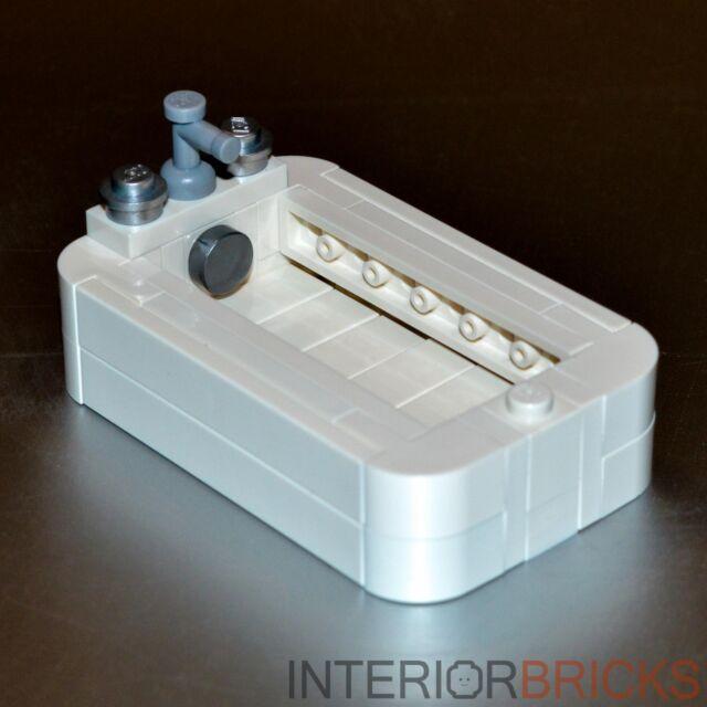 Lego Furniture Bathtub W All Parts Instructions White Set House