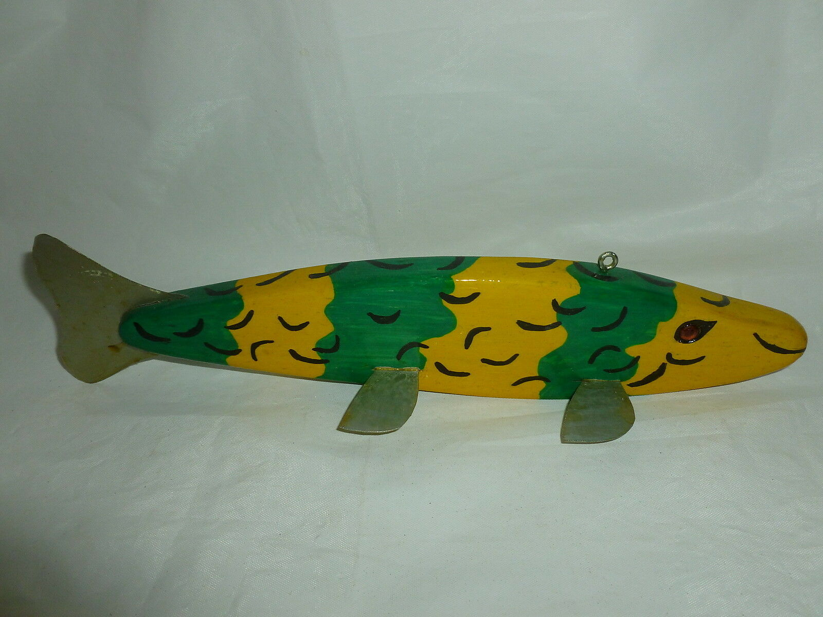"""Duane Steinkopf West Fargo, ND 12"""" Wooden Carved Ice Spearing  Decoy  Lot J-549  quality product"""