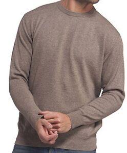 Balldiri Heren L hals Ronde gemeleerd Pullover Naturel 100 Cashmere Bruin rzEqwrR