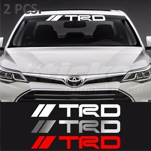 2 Pcs Toyota Trd Windshield Decal Sticker Corolla Camry