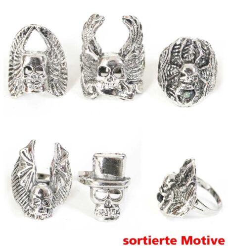 Fingerring sortiert Rocker Punk Gothic Skull Schmuck Ring Horror 128108913