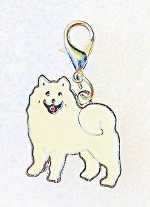 Tiny Chihuahua Black White Dog Pup Bag Purse Charm Dangle Zipper Pull Jewelry