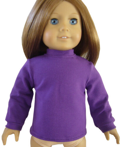 """Plum Purple Mock Turtleneck Top for 18/"""" American Girl Doll Clothes PERFECT FIT"""