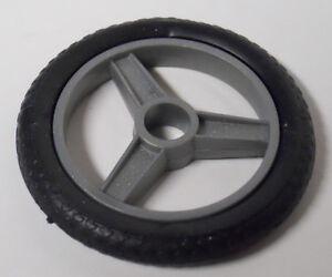 GI Joe Vehicle Silver Mirage REAR Wheel w Tire 1985 Original Part