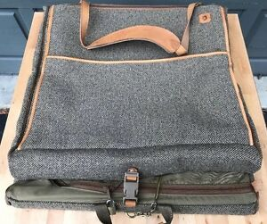 Hartmann-Tweed-Belting-Leather-22-034-Garment-Bag-Luggage-Suitcase-Vintage-Rare