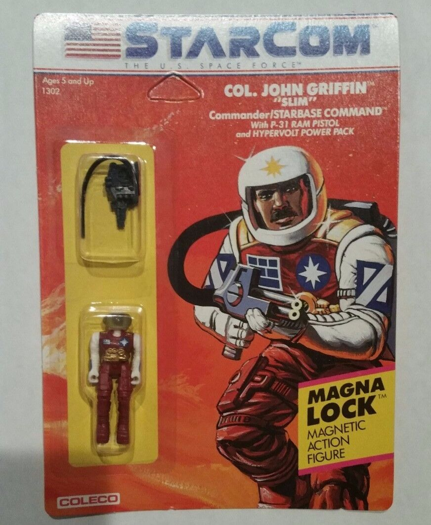 Vintage 1986 StarCom Coleco COL. John Griffin   Case Fresh Unpunched Look  prendre jusqu'à 70% de réduction