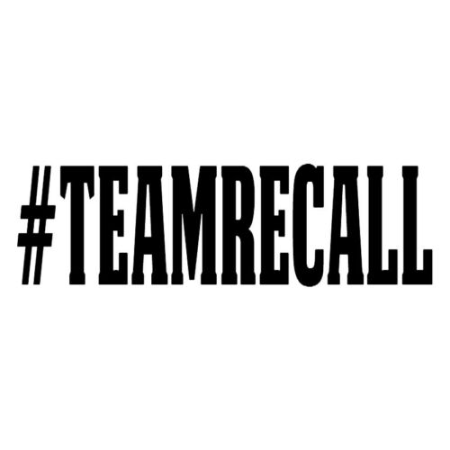 Team Recall Decal Vinyl #teamrecall Sticker