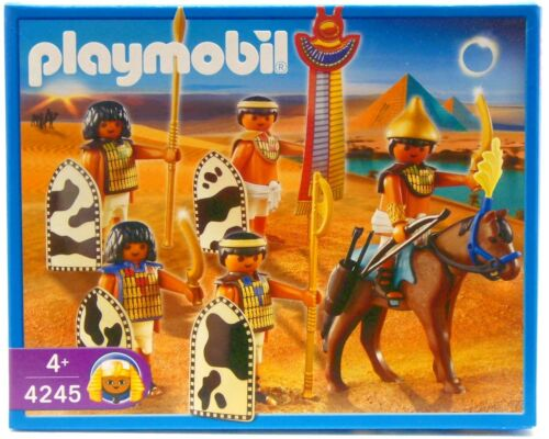 Egyptiens SOLDATS PLAYMOBIL 4245 v`07 à Pharaon armée guerrier cheval Romains neuf dans sa boîte NEUF