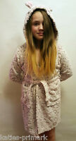 Primark Girls Hooded Dressing Gown Short Robe Leopard Age 7 - 13 Years