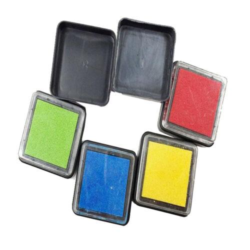 6 Farben Waschbar Stempelkissen Fingerabdruck für Fingerabdrücke