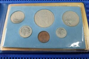 1982 Singapore Mint's Dog Uncirculated Coin Set (1¢ - $1 Stylised Lion Coin)