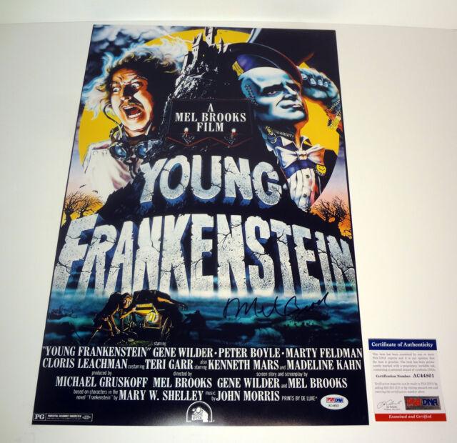 Mel Brooks Signed Autograph Young Frankenstein Movie Poster PSA/DNA COA