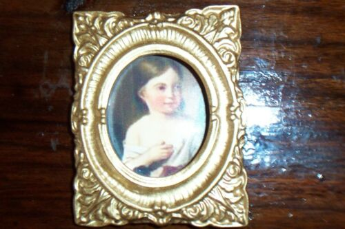 Splendeur pleine de rectangulaire Cadre photo-env. 5,5cm x 7,5cm - ENFANT D-Miniature 1:12
