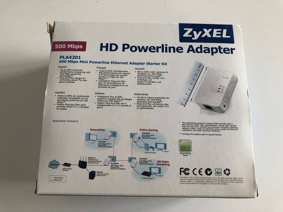 Adapter, ZyXel - HD Powerline Adapter, God