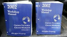 Ford Factory service manuals Free Shipping 2002 Crown Victoria