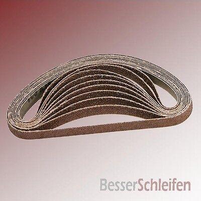 10 Schleifbänder Schleifband 13x451 mm Körnung P80 für Black/&Decker Powerfeile