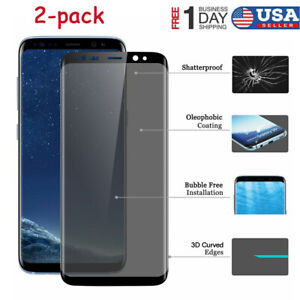 2-Pack-para-Samsung-Galaxy-S9-S8-Plus-Completo-Cubierta-Protector-de-Pantalla-de-Vidrio-Templado