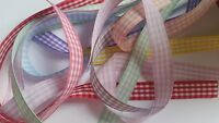 Viviant Gingham Ribbon Various Colours/Widths