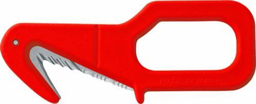 Mac Coltellerie Rescue couteau-corde et coupe-ceinture en rouge en acier inoxydable