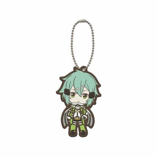 Sword Art Online Rubber SD Keychain Strap Charm Kirito Asuna Sinon Yuuki @29193