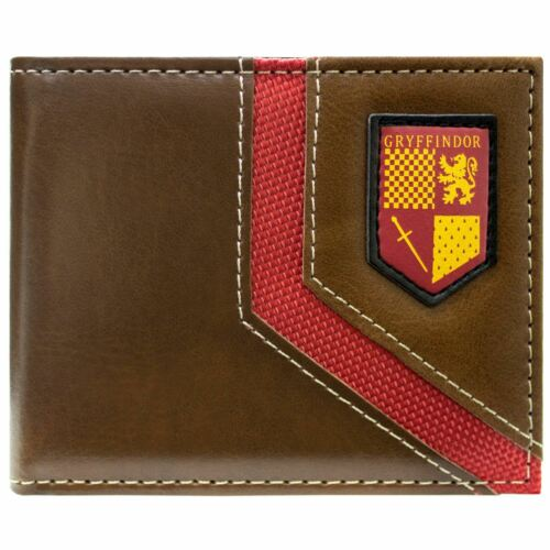 NEW OFFICIAL WARNER HARRY POTTER GRYFFINDOR SHIELD BROWN ID /& CARD BIFOLD WALLET