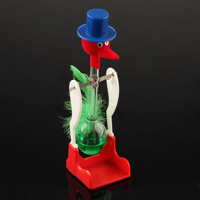 Novelty Retro Glass Happy Drinking Bird Bobbing Dipping Dippy Einstein Duck Toy