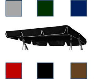 110x 165cm baldachin f r garten schaukel h ngematte 2 3 sitz gr n schwarz grau ebay. Black Bedroom Furniture Sets. Home Design Ideas