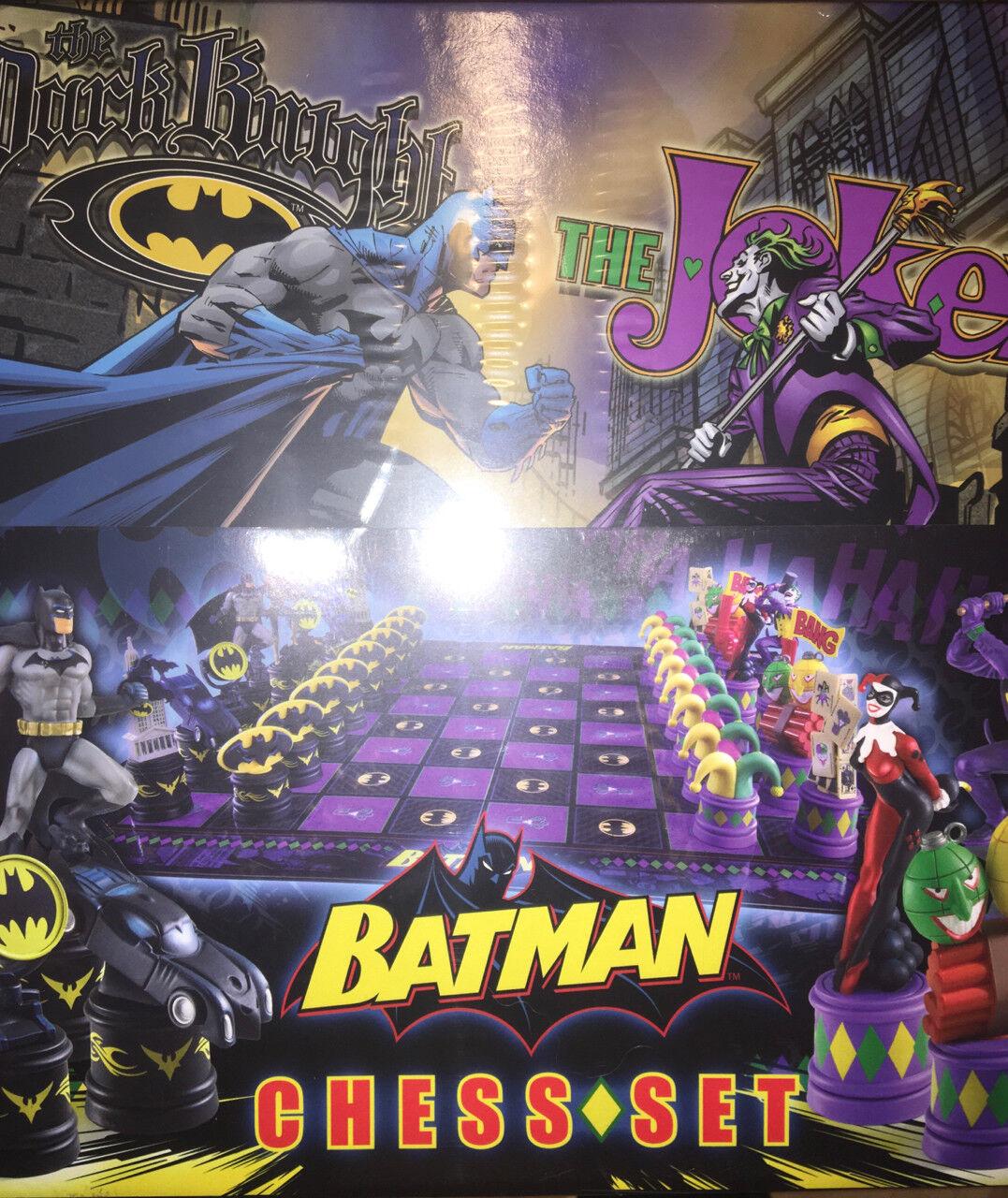 Batman dark knight vs joker schachspiel dc comics super - held von edel - sammlung