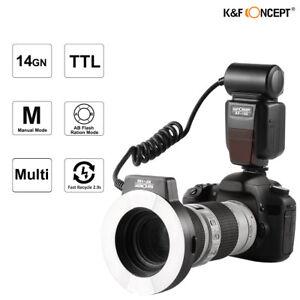 K-amp-F-Concept-KF-150-Macro-Ring-Flash-E-TTL-Light-6-Adapter-Rings-for-Canon-7D-60D