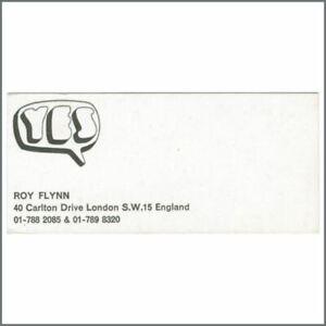 Yes 1960s Roy Flynn Business Card Uk Ebay