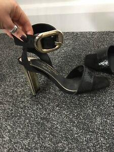 BN - River Island Black Leather Ankle