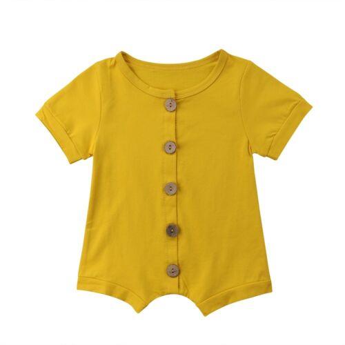 US Newborn Toddler Baby Boy Girl Romper Bodysuit Sunsuit Outfit Clothes Playsuit