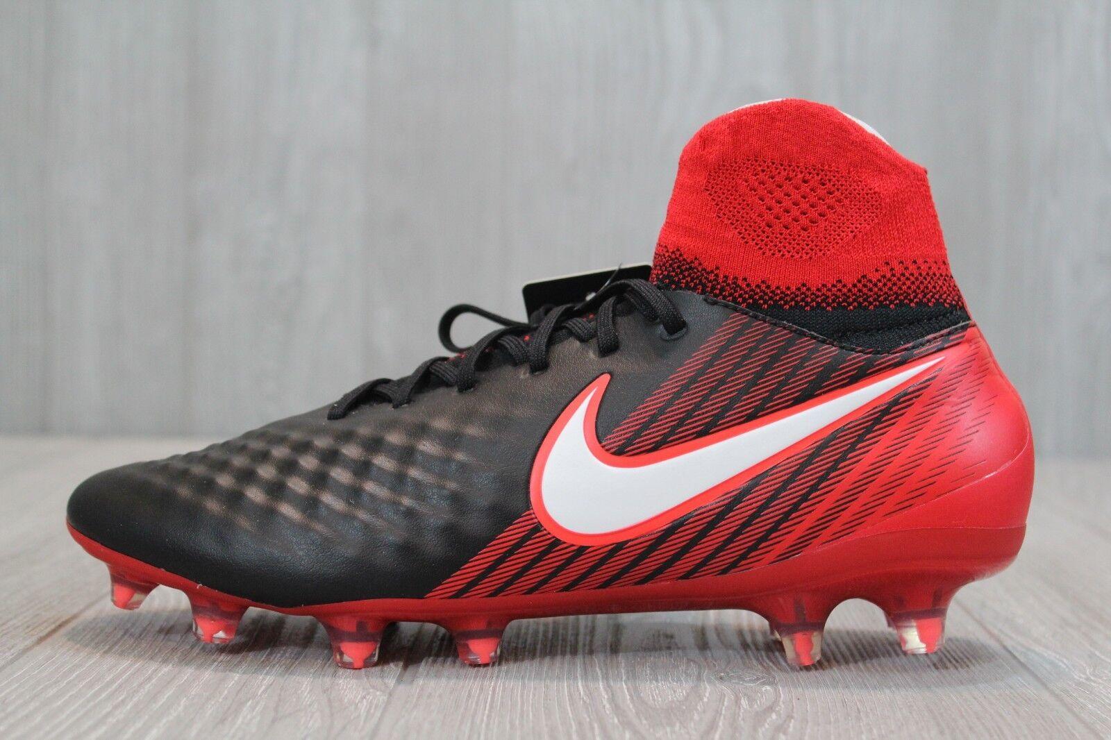 26 Nike Magista Orden II FG DF Soccer Cleats Fire & Ice 843812-061 Black 8-11