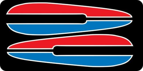 1972 FX FXE FXB RED BLUE Tank decal with WHITE trim 72 71 FL for AMF Harley