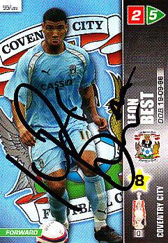 Coventry City F.C LEON meilleure main signé Championship 2008 PANINI CARTE