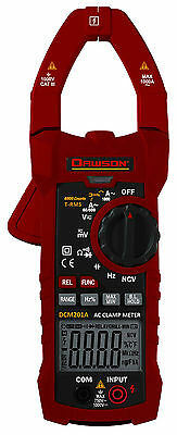 Dawson DCM201A AC/DC Voltage Current Resistance True RMS Clamp Meter